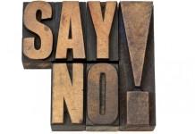 povedať nie