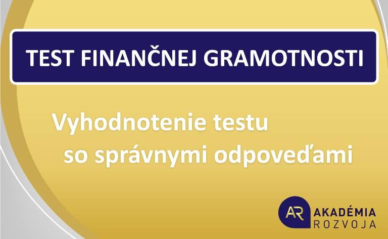 Test Finančnej Gramotnosti