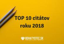 TOP 10 inšpiratívnych citátov z instagramu Bohatyotec za rok 2018